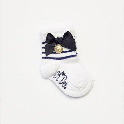 A Dee Mini Abby White Nautical Ankle Socks 1950 - Socks