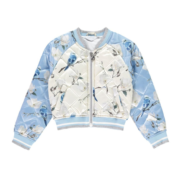 A Dee Mr Bluebird Powder Blue Bomber Jacket Jill W182215 - Jacket