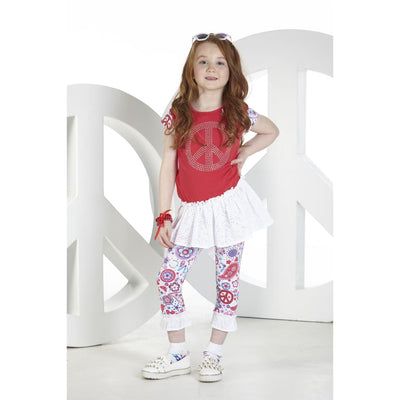 A Dee Peace & Love Cranberry Peace Leggings Outfit Nadia - Outfits & Sets