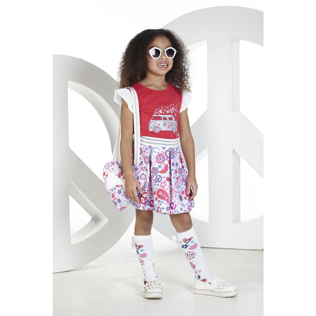 A Dee Peace & Love Paisley Hippy Van Skirt Set - Outfits & Sets