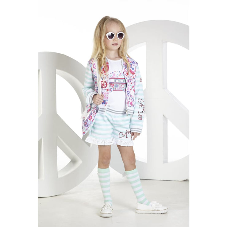 A Dee Peace & Love Shorts & T-Shirt Set Skippy - Outfits & Sets