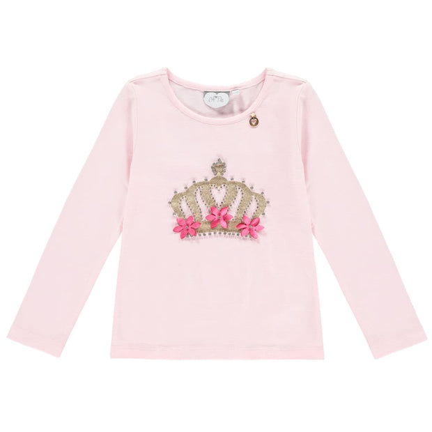 A Dee Pink Princess Diamante Pink T-Shirt Terry - T-Shirt