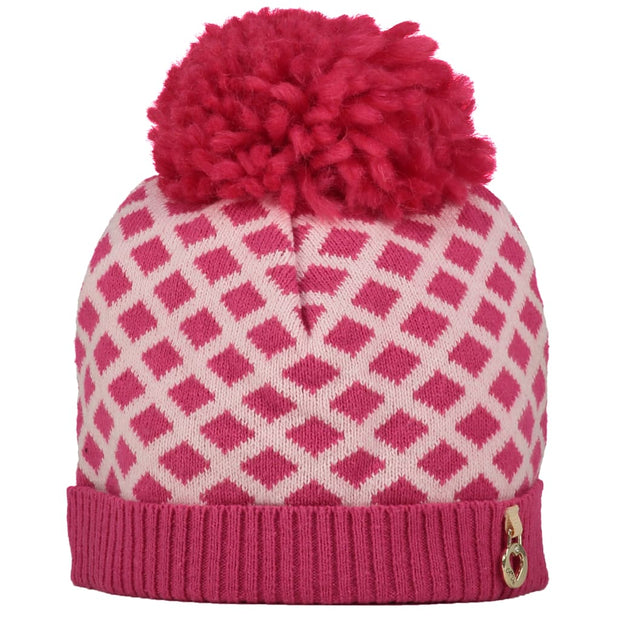 A Dee Pink Princess Hot Pink Knitted Hat Abby W181911 - Hat