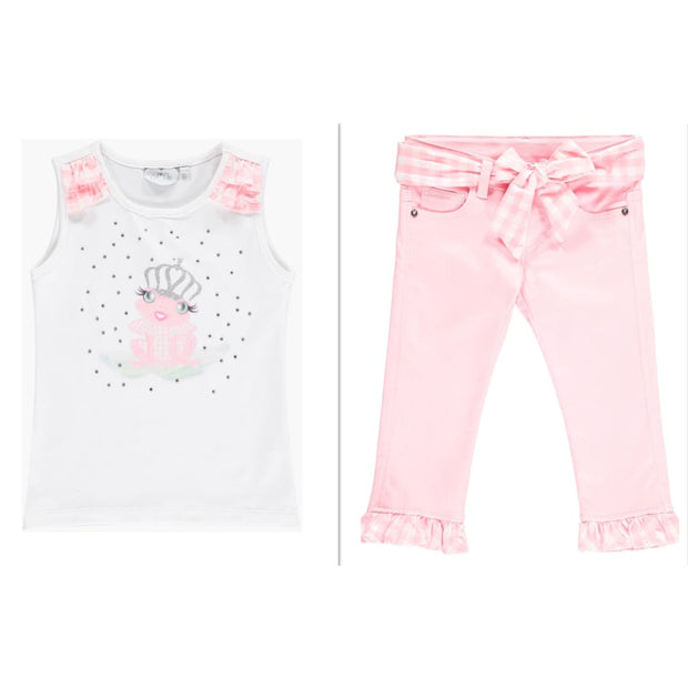 A Dee Waterlily Love Frog Princess Capri Jeans Outfit - Outfits & Sets