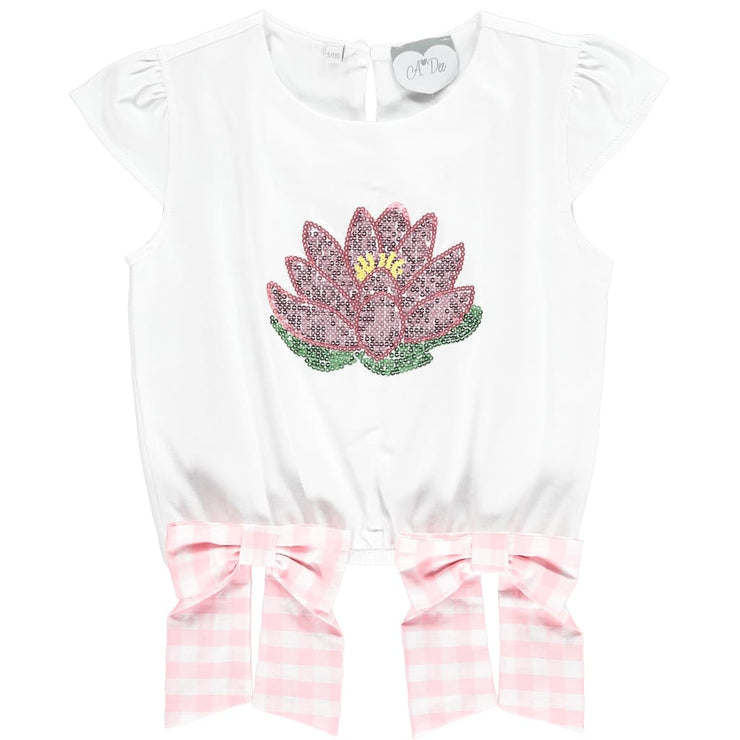 A Dee Waterlily Love Lily Print T-Shirt Tori - T-Shirts & Tops
