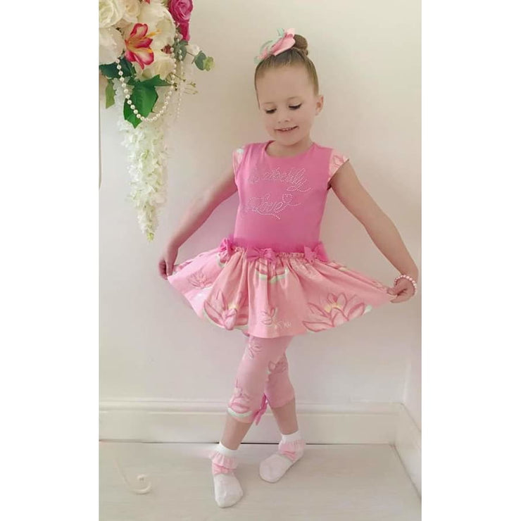 A Dee Waterlily Love Pink Leggings Outfit Natalie - Outfits & Sets