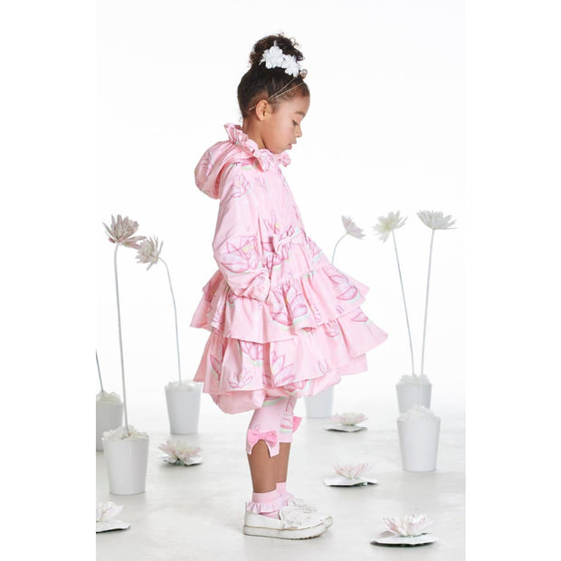 A Dee Waterlily Love Pink Print Coat Jackie - Coats & Jackets