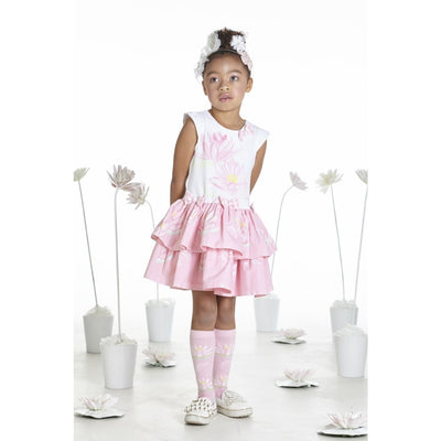 A Dee Waterlily Love Print Frill Dress Dot - Dresses