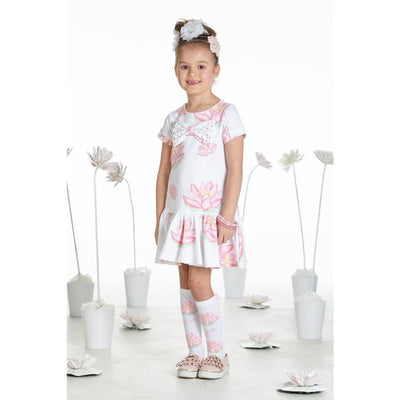 A Dee Waterlily Love Print Sweatshirt Dress Dora - Dresses