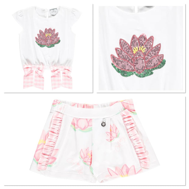 A Dee Waterlily Love T-Shirt Shorts Set Sharlene - Outfits & Sets