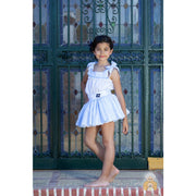 Abuela Tata SS19 Blue Skirt Outfit - Skirt Outfit