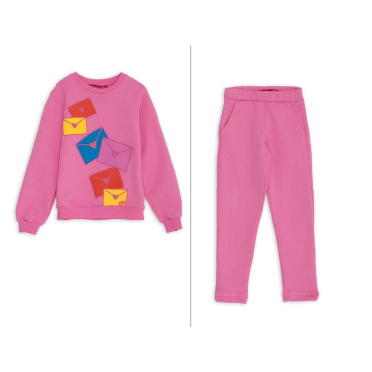 Agatha Ruiz Aw18 Pink Letters Tracksuit - Tracksuit