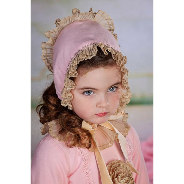 Bea Cadillac Lily Pink & Beige Bonnet 18861 - Dress