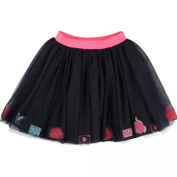 Billieblush Alice in Wonderland Navy Tulle Glitter Skirt U13152 - Skirt
