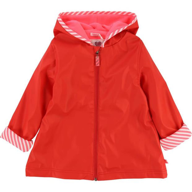 Billieblush Bright Red Raincoat U16181 - Coat