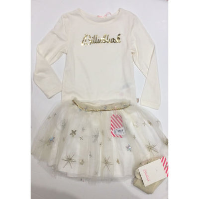 Billieblush Cream Silver & Gold Tulle Skirt Outfit - Skirt Outfit