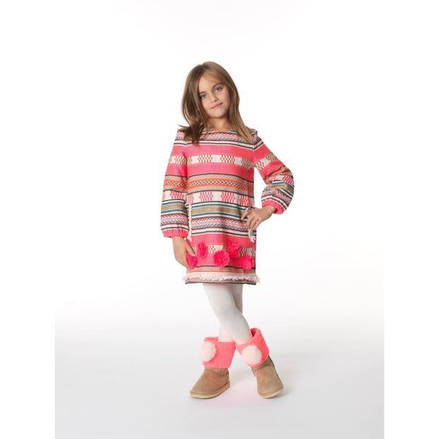Billieblush Ethnic Pom Pom Dress U12444 - Dress