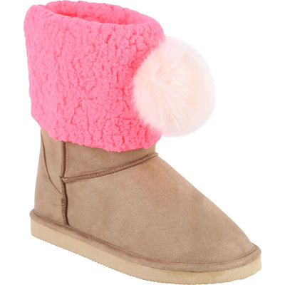Billieblush Fur Suede Boots U19155 - Shoes