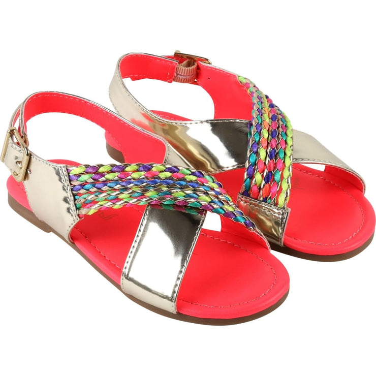 Billieblush Gold Multi Sandals 19123 - Shoes