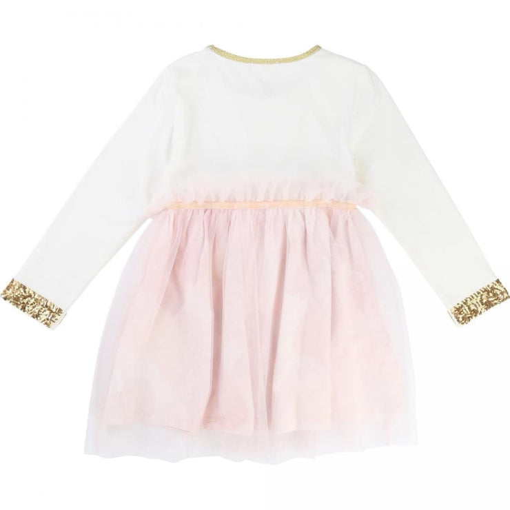 Billieblush Gold & Tulle Dress U12332 - Dress