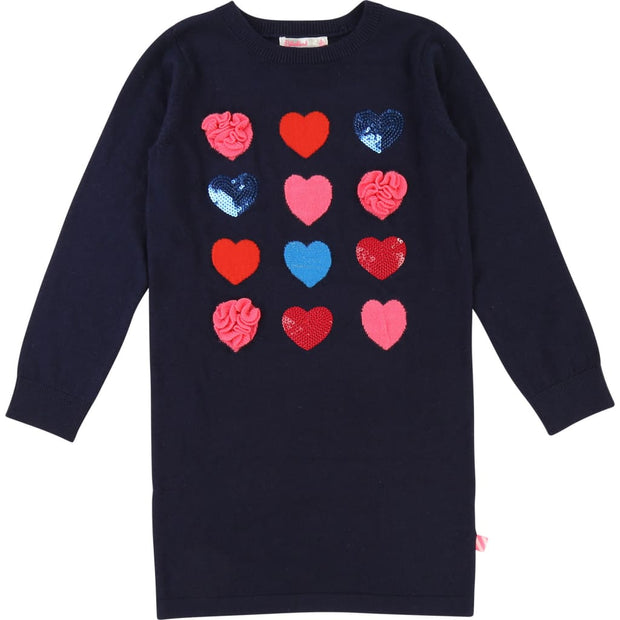Billieblush Indigo Blue Heart Knitted Dress U12394 - Dress