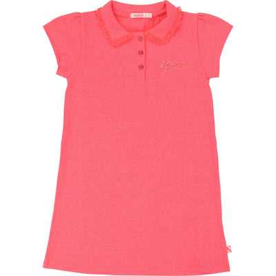 Billieblush Neon Pink Polo Dress U12483 - Dresses
