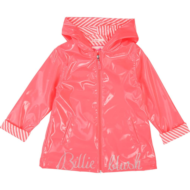 Billieblush Neon Pink Raincoat U16214 - Coats & Jackets