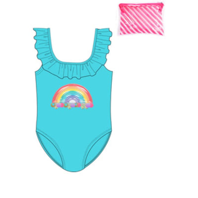 Billieblush Turquoise Swimsuit U10308 - Swimsuits