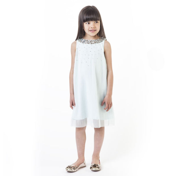 Billieblush White Silver Special Occasion Dress - Dresses