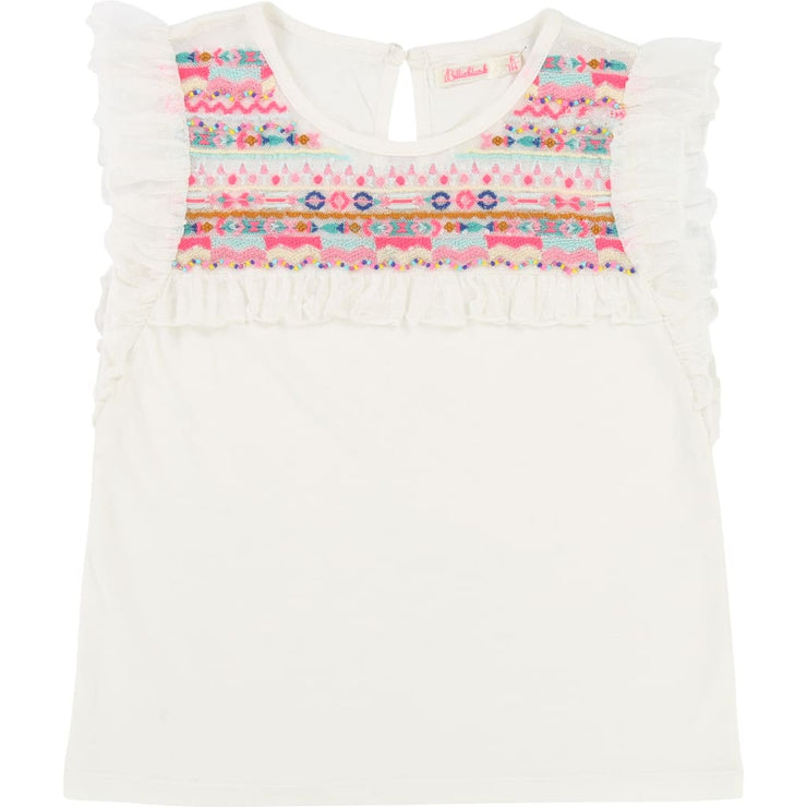 Billieblush White Top U15483 - T-Shirt