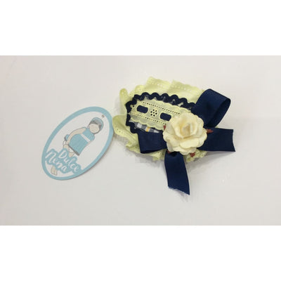 Dulce Nena Navy Yellow Hair Clip - Dresses