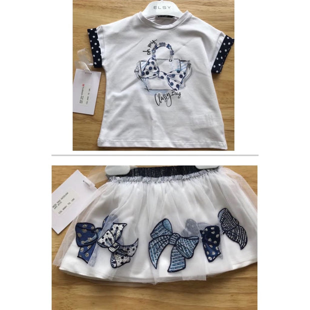 Elsy Bow Tulle Skirt Set - Outfits & Sets