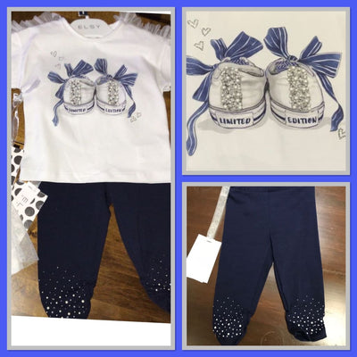 Elsy Navy Limited Edition Sneaker T-Shirt & Leggings Set - Outfits & Sets