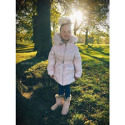 Elsy Pink Down Filled Padded Coat - Coat