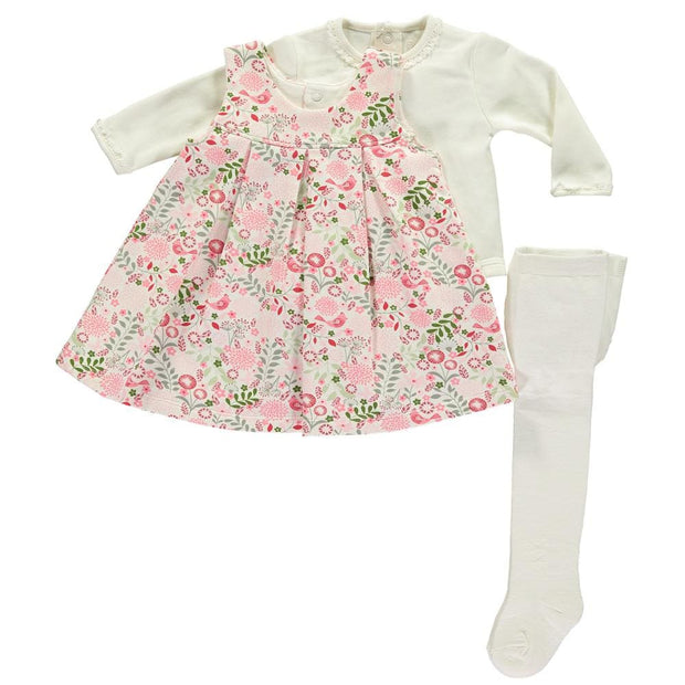 Emile Et Rose Lana Pink Floral 3 Piece 8338 - Baby Dress