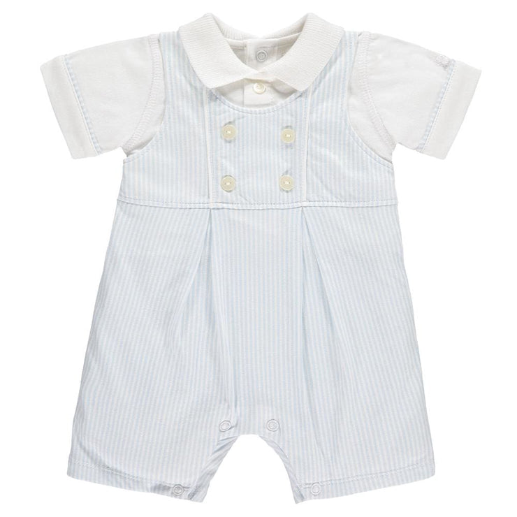 Emile Et Rose Maxwell Pale Blue Romper Outfit 7266 - Baby Girl Onesie
