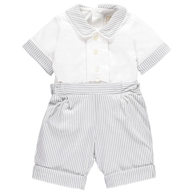 Emile Et Rose Melvin Pale Grey Shorts Outfit 5335 - Outfit