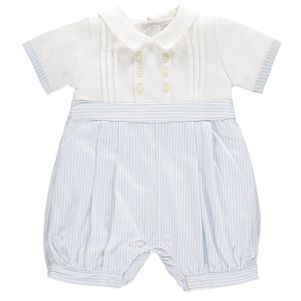 Emile Et Rose Murray Blue Jersey Romper 7261 - Baby Girl Onesie