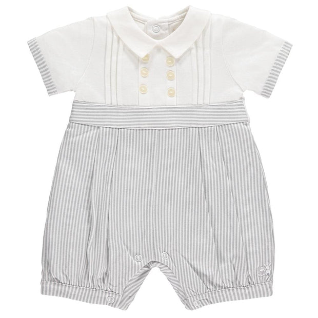 Emile Et Rose Murray Grey Jersey Romper 7261 - Baby Girl Onesie
