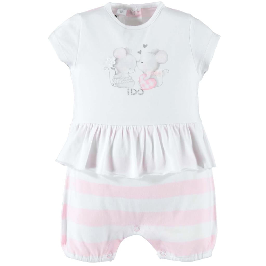 3cbe0bf4c iDO Baby Girls Summer Shortall Romper W138 – Just Kidding Children's ...