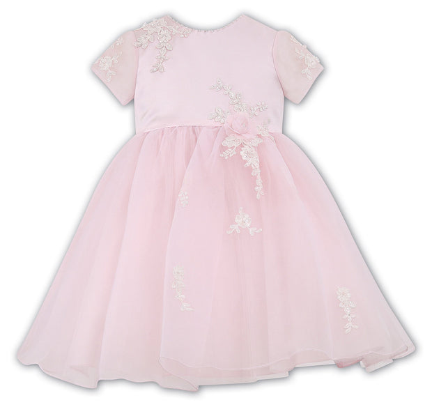 Sarah Louise Pink Ivory Special Occasion Dress 070021