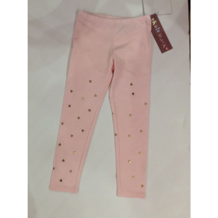 Kate Mack Aw18 Melting Hearts Pink & Gold Leggings 528 - Leggings