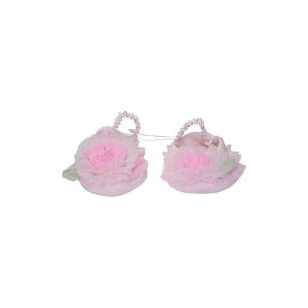 Kate Mack Pink Newborn Booties 405 - Baby Accessories