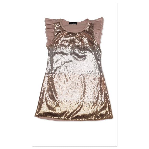 Kate Mack Royal Kingdom Champagne Sequin Dress 536 - Dress