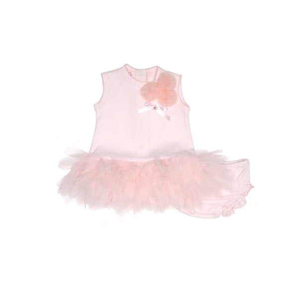 Kate Mack Sweet Treat Pink Baby Dress & Knickers Set - Dresses