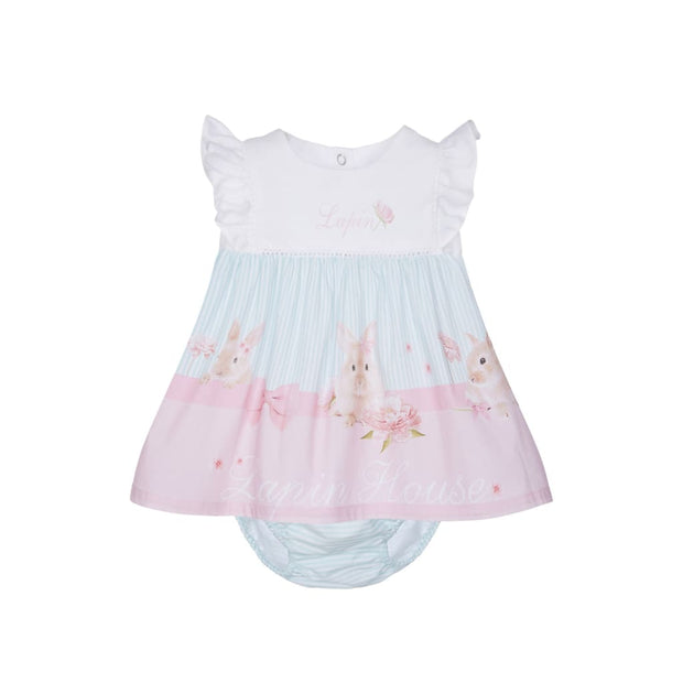 Lapin House Cute Bunnies Baby Dress & Knickers Outfit - Dresses