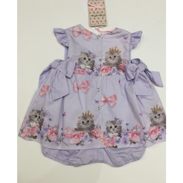 Lapin House Cute Kitten Lilac Babysuit Dress - Dresses
