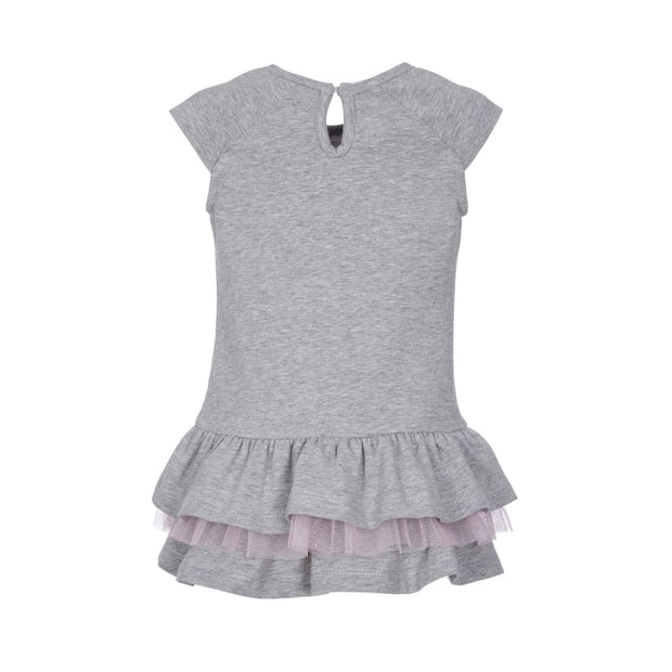 Lapin House Grey Roller Skates Tiered Dress - Dresses