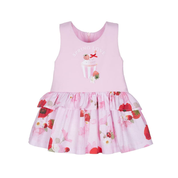 Lapin House Ladybug Pink Dress - Dresses