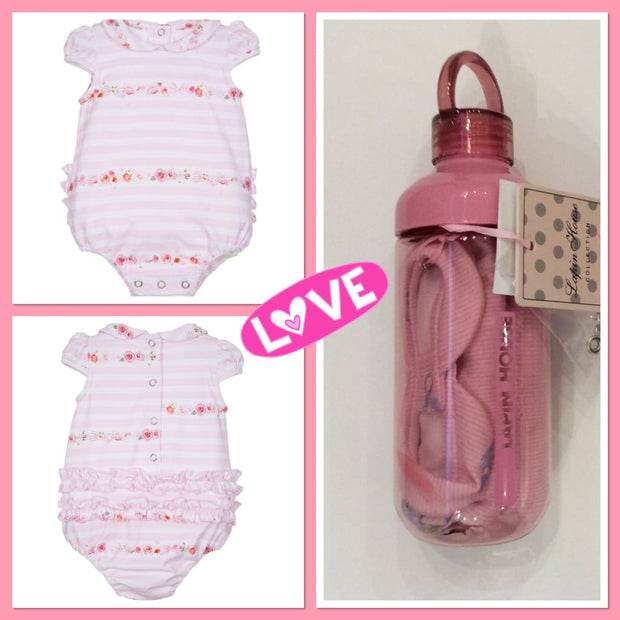 Lapin House New Baby Bodysuit & Water Bottle Gift Set - Babysuits